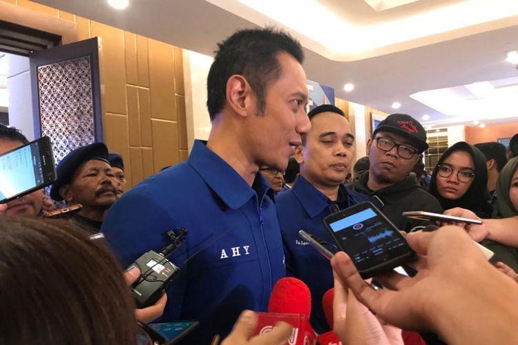 Komandan Satuan Tugas Bersama (Kogasma) Partai Demokrat Agus Harimurti Yudhoyono (AHY) saat ditemui di Hotel Sultan, Jakarta, Minggu (11/11/2018).