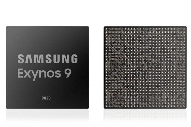 Ilustrasi chip Samsung Exynos 9820.