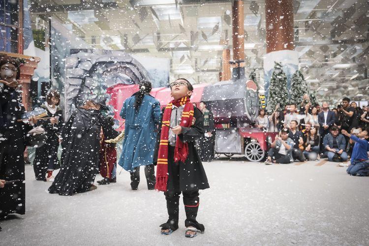 Rayakan Natal 2018, Bandar Udara Changi hadirkan suasana berbeda dengan tema ?A Wizarding World Holiday?.