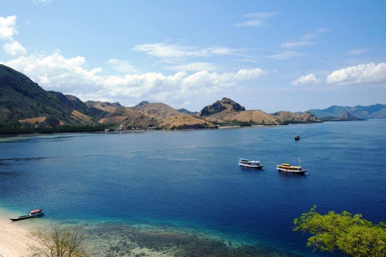 Gugusan pulau yang diambil dari Pulau Kelor, di kawasan TN Komodo, NTT, Selasa (13/11/2018).