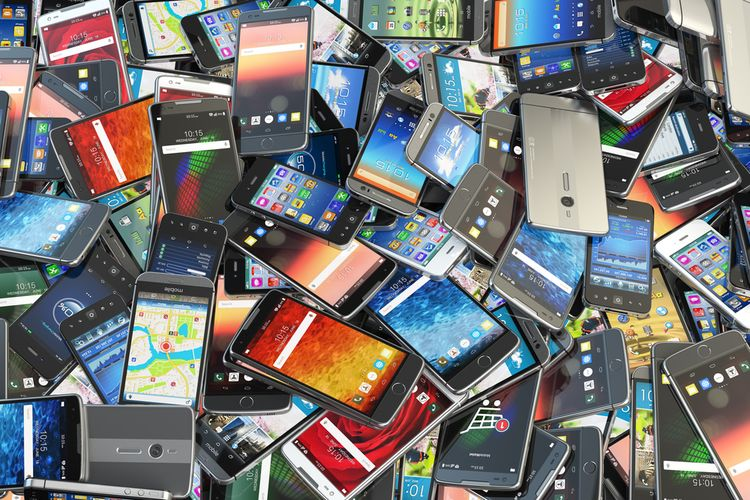 Ilustrasi ponsel tua