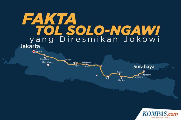 Fakta jalan Tol Solo-Ngawi yang Diresmikan Jokowi