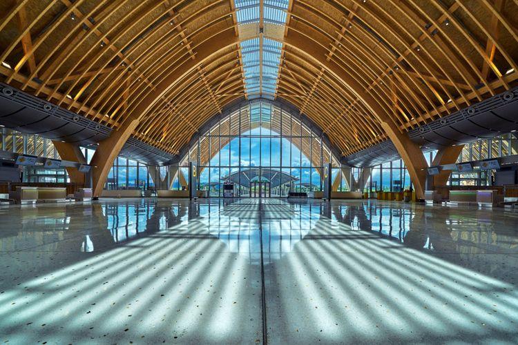 Tampak Tak Biasa dan Eksotis, Atap Bandara Filipina Ini Terbuat dari Kayu Laminasi