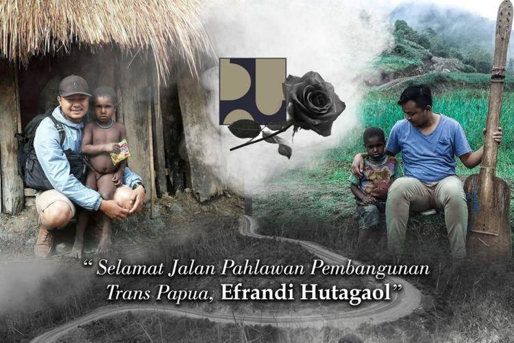Ucapan selamat jalan terhadap Efrandi Hutagaol