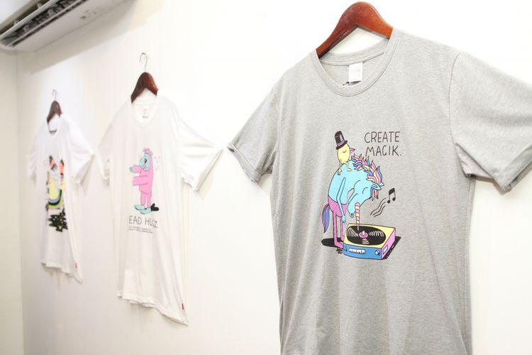 Kaus kolaborasi Wakai dan seniman Jeremyville.