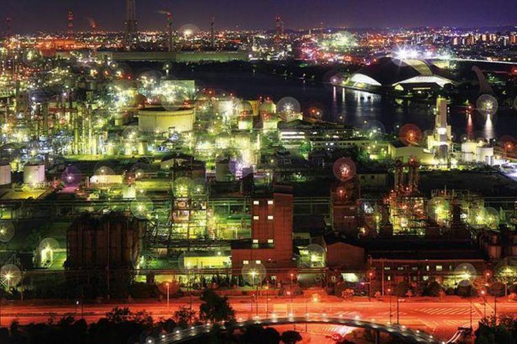 Salah satu dari empat pemandangan malam kompleks industri di Jepang yang terkenal!