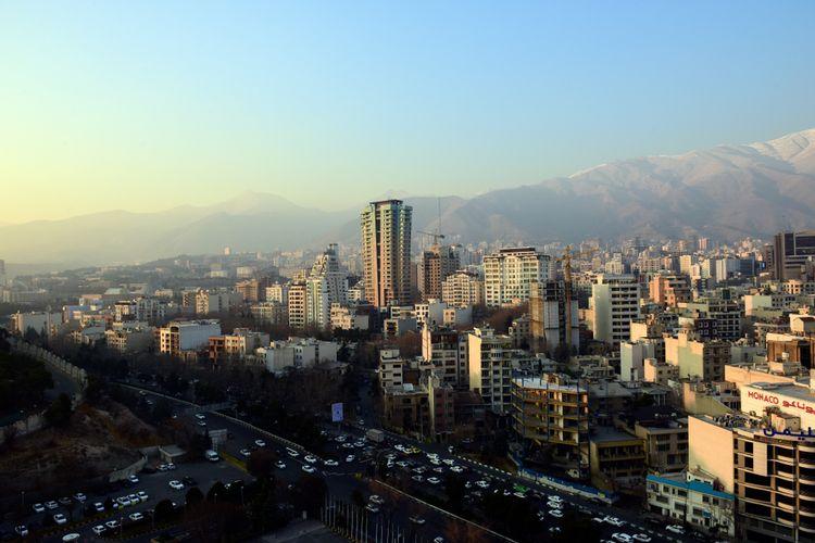 Ilustrasi kota Teheran, Iran.
