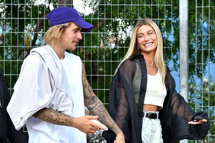 Justin Bieber dan istrinya Hailey Baldwin.