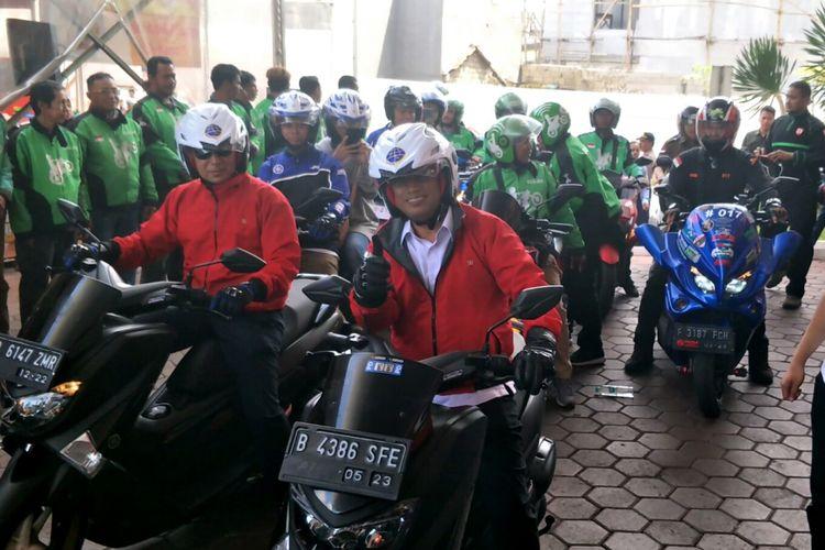 Menteri Perhubungan Budi Karya Sumadi di Depok, Sabtu (5/1/2018)