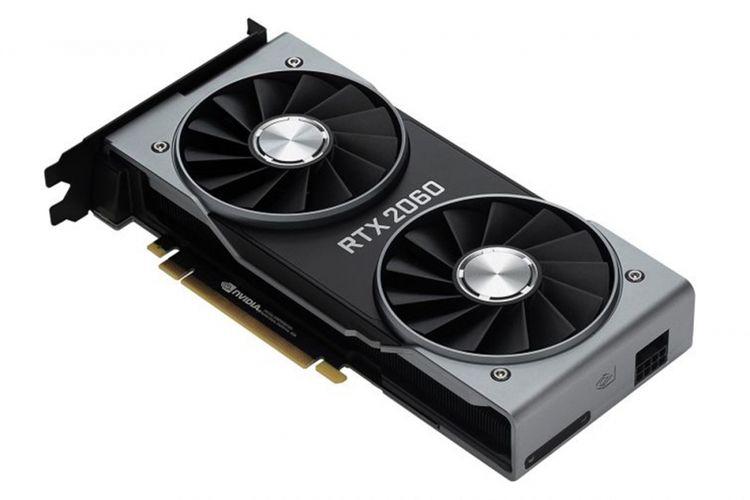 Ilustrasi kartu grafis Nvidia GeForce RTX 2060