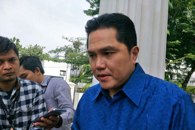 Ketua TKN Jokowi-Maruf Erick Thohir di Kantor Wapres