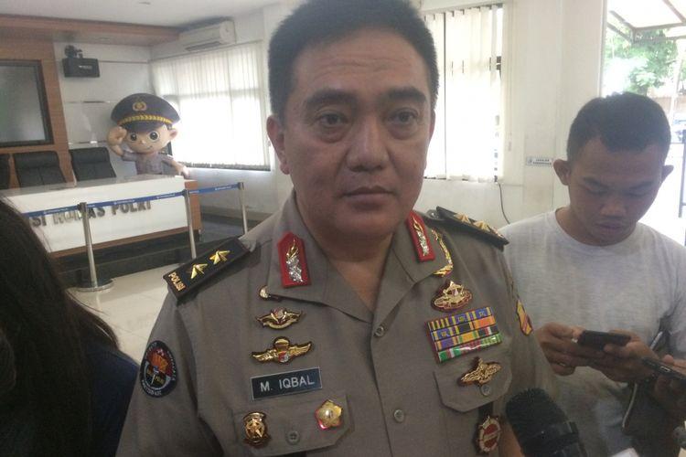 Kepala Divisi Humas Polri Irjen (Pol) Muhammad Iqbal di Gedung Humas Mabes Polri, Jakarta Selatan, Jumat (11/1/2019).(Reza Jurnaliston)