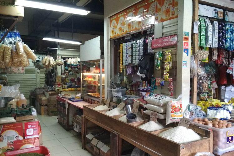Kondisi pasar Pondok Indah, Jakarta Selatan Setelah mendapatkan plakat Adipura, Rabu (16/1/2019)