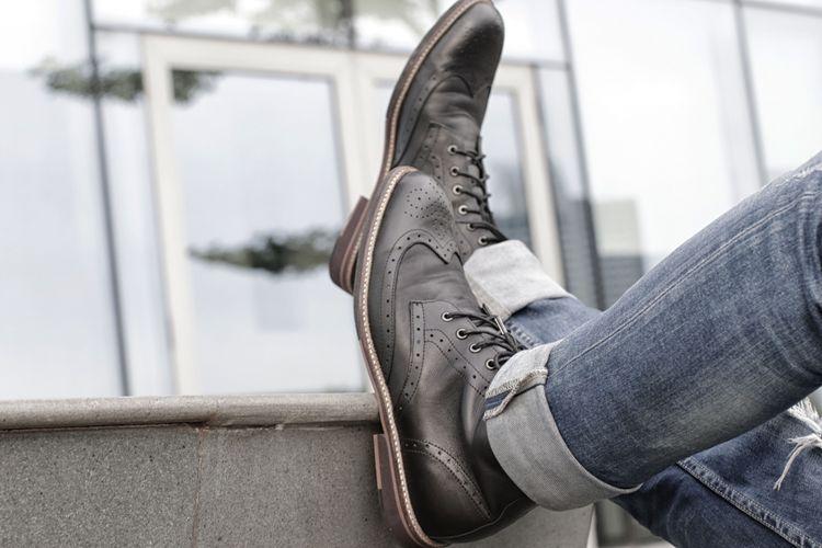 Neo Brogues Boots salah satu boots kreasi brand septa lokal Nappa Milano, Raub (30/1/2019). Boots ini menggunakan nappa leather pada upper, lalu lambskin pada lining dan sol rubber.