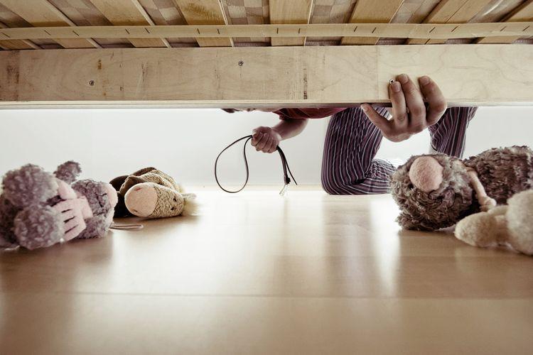 Ilustrasi hukuman fisik pada anak-anak.