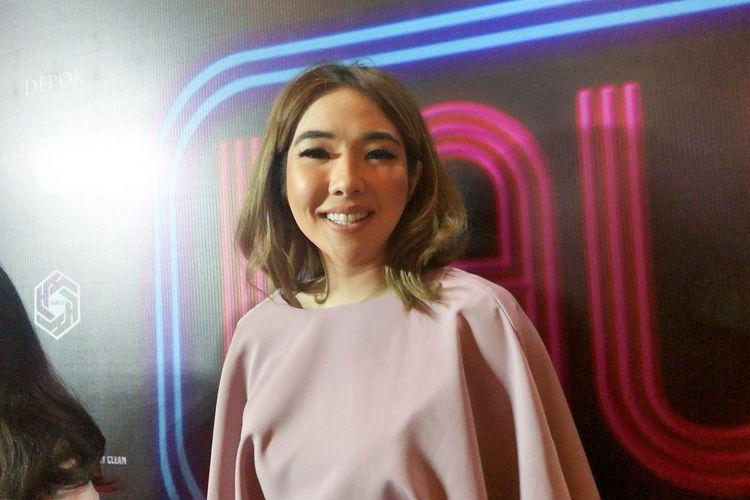 Penyanyi Gisel Anastasia dalam gala premiere film Laundry Show di Plaza Senayan, Jakarta Pusat, Kamis (31/1/2019).