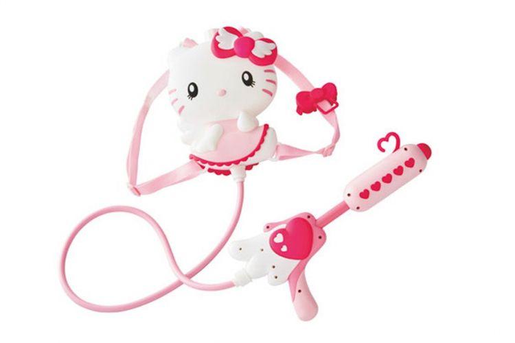 Imutnya desain Hello Kitty mampu membuat anak perempuan tergila-gila. Tembakan air (2,600 Yen)