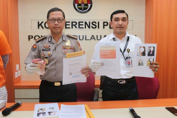 Jajaran Subdit IV Direktorat Reserse Kriminal Umum Polda Kepri membongkar praktik bisnis prostitusi online di Batam, Kepulauan Riau. Dalam kasus ini sedikitnya ada 8 tersangka yang diamankan, baik yang bertindak sebagai mami maupun pekerja seks komersialnya.