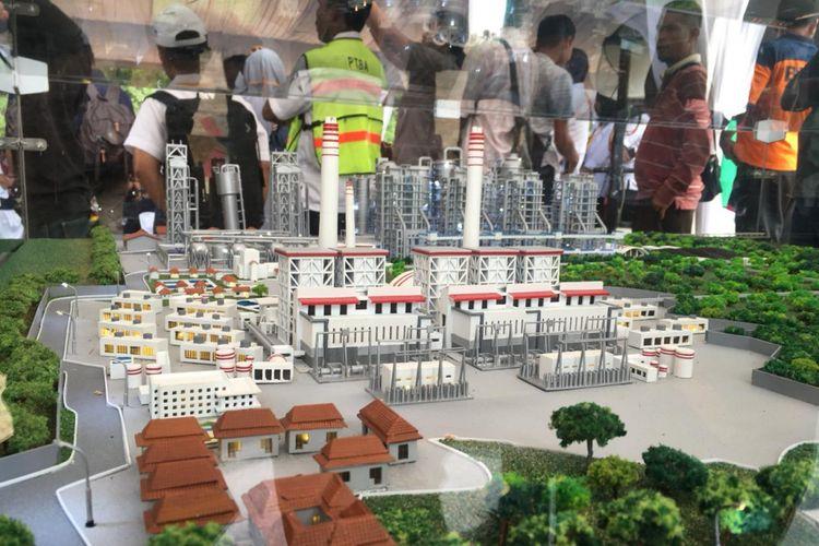 Rancangan pembangunan pabrik hilirisasi batubara menjadi DME di wilayah Kecamatan Peranap, Kabupaten Indragiri Hulu, Riau.