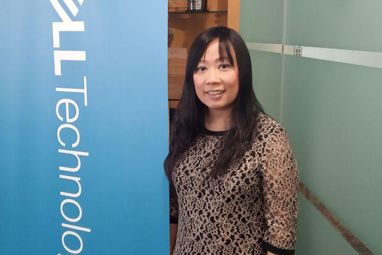 Catherine Lian, Managing Director Dell EMC Indonesia, saat ditemui di kantor Dell EMC Indonesia di Jakarta, Kamis (14/2/2019)