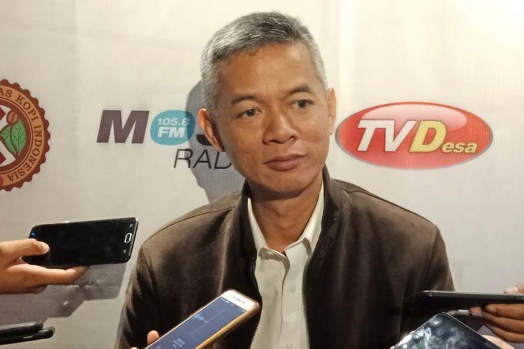 Komisioner Komisi Pemilihan Umum (KPU) Wahyu Setiawan saat ditemui di Hotel Mercure Sabang, Jakarta Pusat, Jumat (15/2/2019).