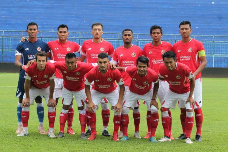 Tim Semen Padang jelang lawan Barito Putra,  Selasa (26/2/2019) di Stadion Kanjuruhan Malang