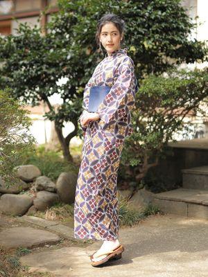 Yukata Berpola Hanabishi Shippo dari SEVENDAYS = SUNDAY