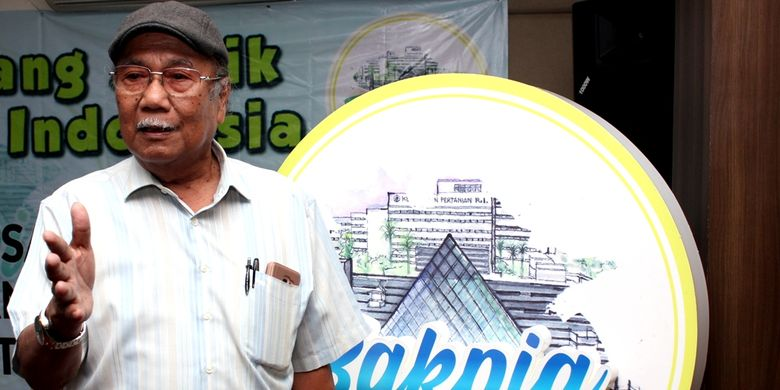 Ekonom Universitas Indonesia Dr. Ir. Riyanto, MSc usai acara Bincang Asyik Pertanian Indonesia (BAKPIA) di Sentul City, Jawa Barat, Senin (18/3/2019).
