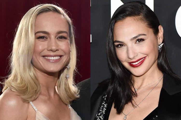 Gal Gadot pemeran Wonder Woman dan Brie Larson pemeran Captain Marvel,