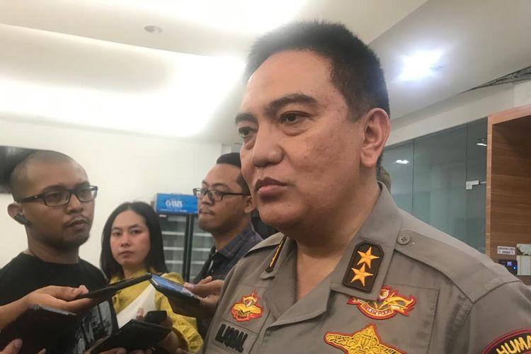 Kepala Divisi Humas Polri Inspektur Jenderal M Iqbal di Gedung Humas Mabes Polri, Jakarta Selatan, Kamis (16/5/2019).