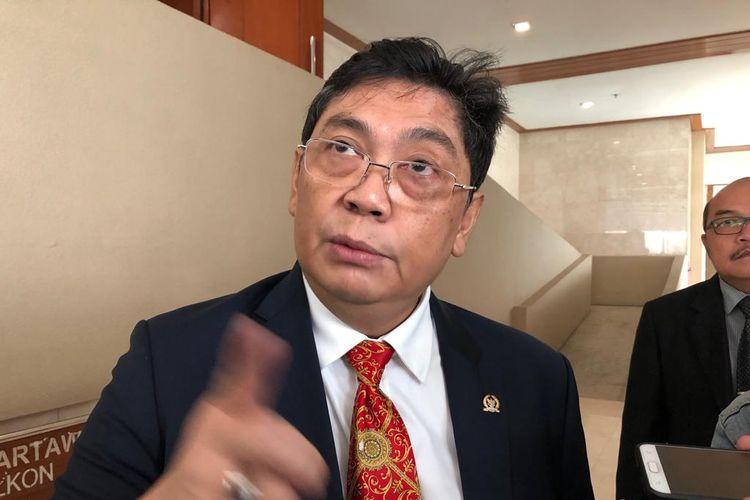 Wakil Sekretaris Jenderal PDI Perjuangan Utut Adianto di Kompleks Parlemen, Senayan, Jakarta, Kamis (4/7/2019)