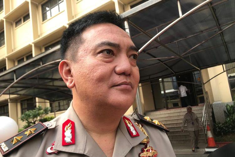 Kepala Divisi Humas Polri Irjen (Pol) Muhammad Iqbal saat ditemui di Gedung Mabes Polri, Jakarta Selatan, Senin (22/7/2019).