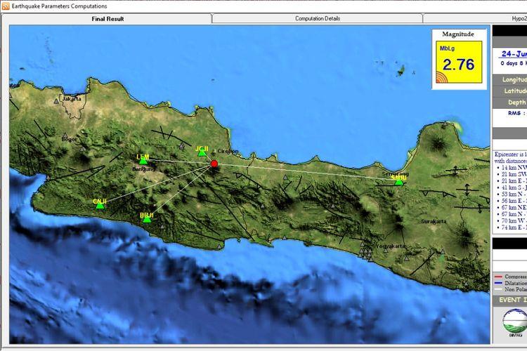 Peta Gempa Cirebon