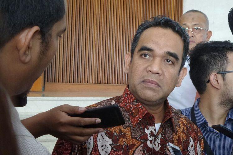 Sekretaris Jenderal Partai Gerindra Ahmad Muzani di Kompleks Parlemen, Senayan, Jakarta, Kamis (23/2/2017).
