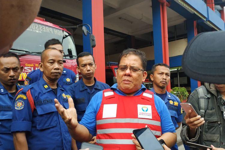 Komisioner Ombudsman Adrianus Meliala, saat meninjau Dinas Damkar Koja, Jakarta Utara, Jumat (7/6/2019).