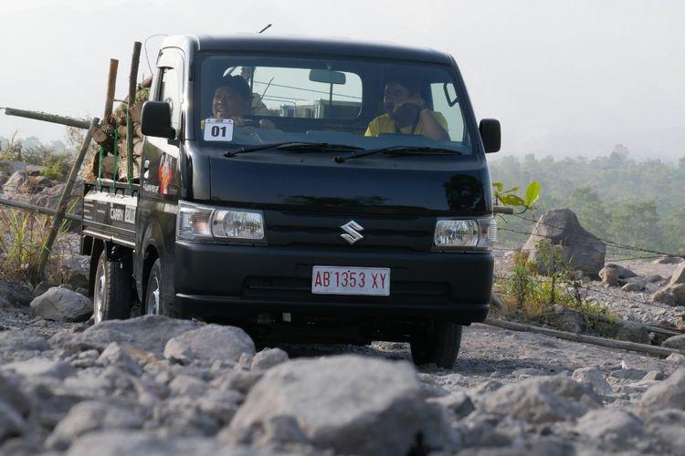 Pengujian Suzuki Carry pikap di jalur Merapi Kaliurang Yogyakarta