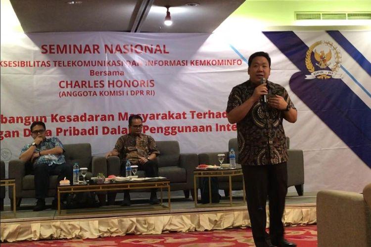 Anggota Komisi I DPR RI, Charles Honoris dalam sebuah acara seminar di Jakarta, Sabtu (20/7/2019).