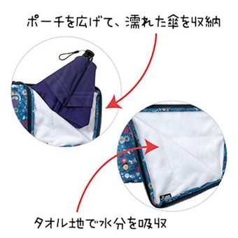Kamu bisa membuka kantungnya dan masukan payung basah ke dalam