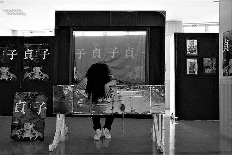 Foto booth Sadako yang dibuat di Suntopia World