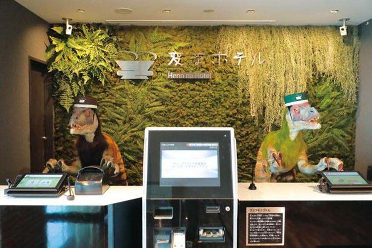 "Foto ini diambil di ""Henn na Hotel Maihama Tokyo Bay"" yang berkonsep sama dengan Henn na Hotel Cabang Shinsaibashi"