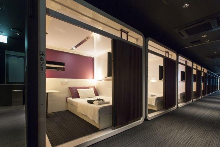 Kamar hotel tampak sepert kabin First Class