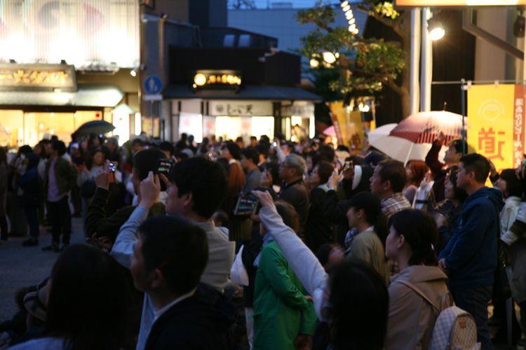 Kumpulan penonton pada liburan Golden Week 2019