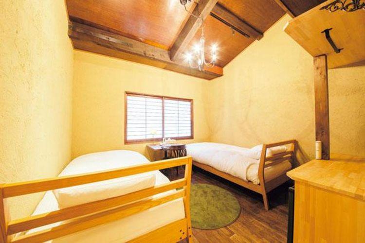 Kamar di Kyoto Machiya Ryokan cinq