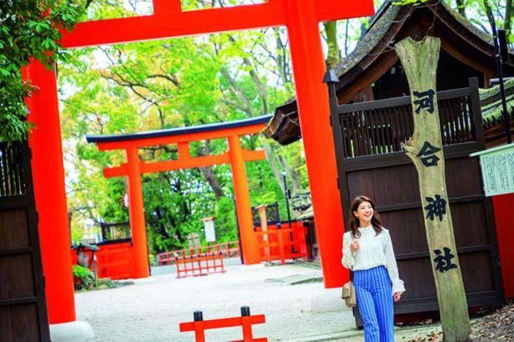 Kuil Kawai berada di sisi barat dari Semi no Ogawa, sebuah sungai di dalam hutan Tadasu no Mori.