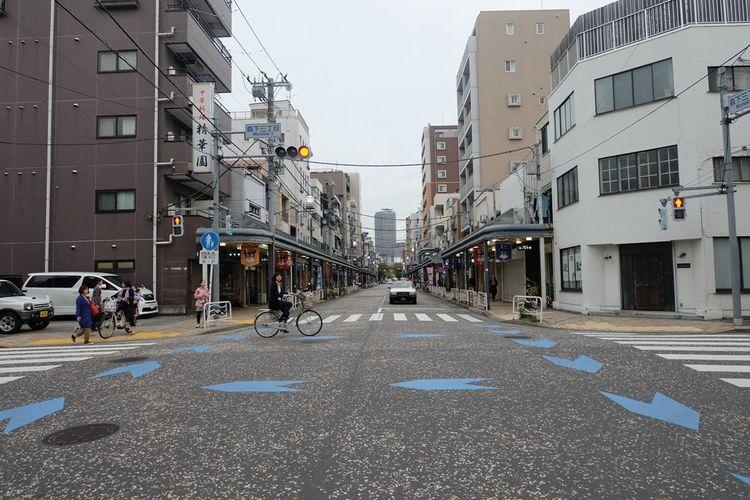 Ilustrasi kota di Jepang.