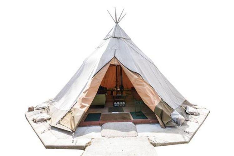 Tenda gaya teepee yang dibuat secara profesional dan diimpor dari negara lain