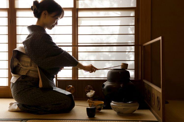 ILUSTRASI - Tradisi minum teh di Jepang