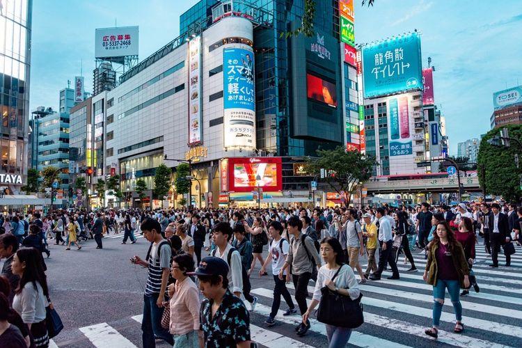 suasana kota di Jepang