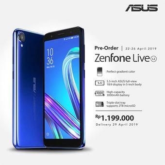 Keterangan pre-order Asus Zenfone Live L2 di laman e-commerce Blibli.