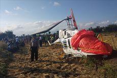 Helikopter Jatuh di Lombok Tengah, Pilot dan Penumpang Selamat